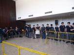 Por momentos, se debían efectuar largas filas para poder sufragar.