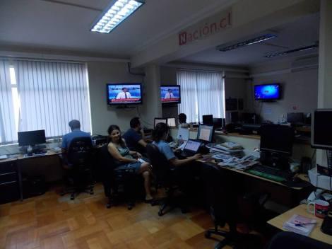 La actual sala de redacción del medio online.