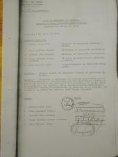 Acta de la comisión que asigna nombre, en la cual se señala que la incorporación de Carrera fue a petición del propio colegio. Pincha la imagen para verla en grande.