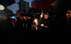 A lo largo del día hubo una masiva presencia de apoderados prensa, quienes exigían el retorno a clases.