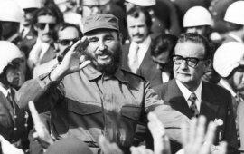 Fidel, durante su vista de Estado a nuestro país.